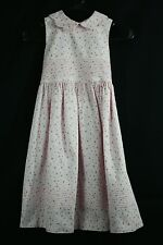 Laura Ashley Pink Floral Sleeveless Dress Soft Thin Wale Cord Size 6X