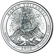 2012 Hawaii Volcanoes National Park  Quarter Philadelphia Denver 2 Coin Set