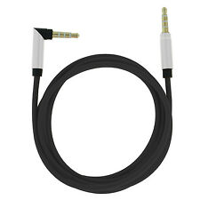 2 x AUX Audio Kabel 3,5mm 1m Klinkenstecker Winkel Stereo MP3 iPod Handy Auto G