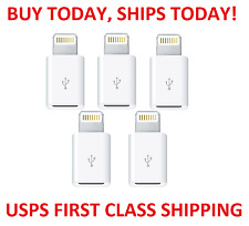 5pc lot Micro USB to Apple Lightning Connector Adapter fits iPhone 7 Plus 6 6s