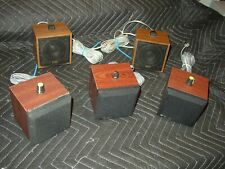 Lot of 5 Telaid , Etc Cube speakers For Hoot and Holler Junkyard Circuit System
