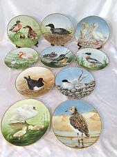 Danbury Mint Usa 10 Water Bird Plates Summer Collection London Bavaria Germany