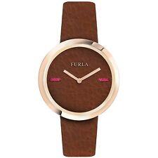 Furla Women's R4251110508 Brown Dial Brown Leather Wristwatch