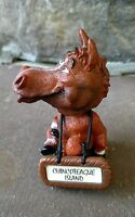 Chincoteague Island wild horse nodder bobble head with hanging sign Fast Ship