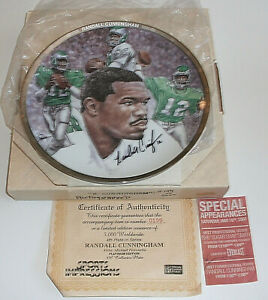 Randall Cunningham SIGNED Autograph Sports Impressions Plate Philadelphia Eagles