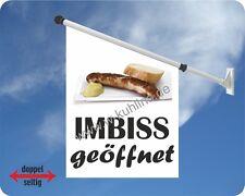 Flagge, Werbefahne,Grill, Imbissbude, Fahne,Imbiss,Öffnungszeiten,Bratwurst