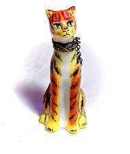Limoges France French Tiger Cat Trinket Pill Box Peint Main Limoge Lion King