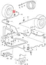 Un homme de frein saignement Kit One Way Tube Pour VW Beetle BRICOLAGE Purge Outil