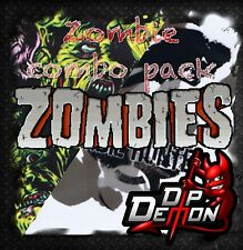 ZOMBIE COMBO 2 ROLLS HYDROGRAPHIC HYDRO DIPPING WATER TRANSFER FILM LIVING DEAD