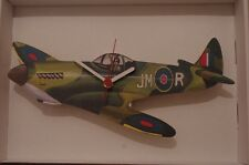 Spitfire plane novelty wooden wall clock British made  Lark Rise