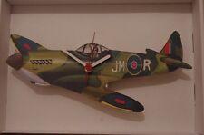 Spitfire plane novelty wooden wall clock British made  Lark Rise