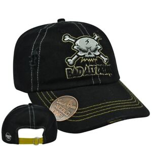 Skull Bad Ass Drunk Built Bottle Opener Garment Wash Distress Sun Buckle Hat Cap