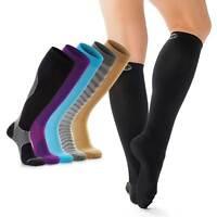 Treat My Feet - Black Compression Socks for Men & Women - Knee-High Stockings