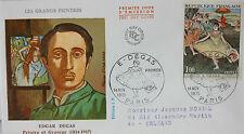 ENVELOPPE PREMIER JOUR - 9 x 16,5 cm - 1970 - EDGAR DEGAS (1834-1917)