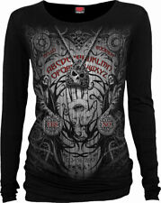 Spiral Direct New Release SPIRIT BOARD Long Sleeve Viscose,GothiC//Goth/Top