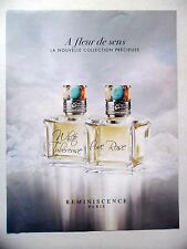 PUBLICITE-ADVERTISING :  REMINISCENCE A Fleur de Sens  2015 Parfum