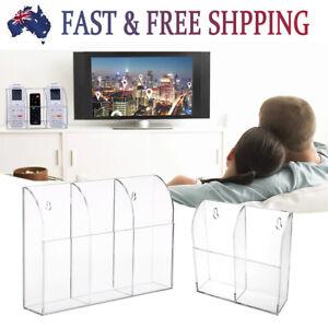 TV Remote Control Holder Stand Box Storage Organizer Acrylic Wall Mounted 3 Size