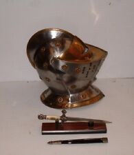 Golden Knights Helmet, Armor,With Knights Dagger With Stand. Free Shipping !