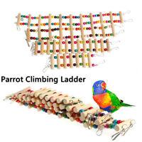 Pet Parrot Wood Drawbridge Bird Ladder Climb Cableway Hamster Birdcage Toys