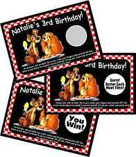 LADY AND THE TRAMP SCRATCH OFF OFFS PARTY GAME GAMES CARDS & BIRTHDAY FAVORS