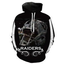 Las Vegas Raiders Football Hoodie Sweatshirt Hooded 3D Sport Jacket Souvenir