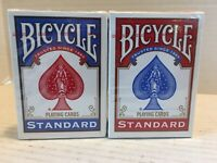 2 Sealed Decks of 2009 Bicycle Standard Playing Cards, 1- Red and 1- Blue