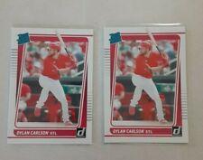 2021 Donruss Panini Baseball Dylan Carlson Rated Rookie Rc #37 Lot (2) Cardinals