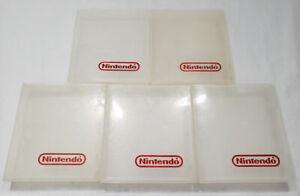 x5 Official NES Plastic Hard Cartridge Case White Clear original Nintendo logo