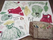 Vtg Paper Doll Convention 1989 Gone With The Wind Judy Johnson Poster Size Plus