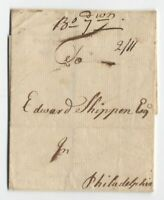 1760 Boston MA manuscript stampless cover with PA currency rate [5246.506]