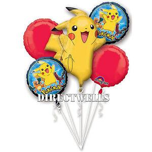 Pokemon Authentic Licensed Foil / Mylar Balloon Bouquet