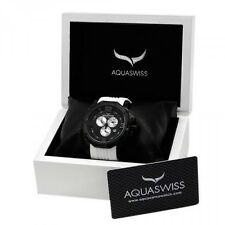 Aquaswiss Men's Chronograph Swiss Vessel XG Watch White & black NIB