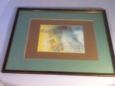 """Original Framed Watercolor Painting Signed By Ralston Crawford-titled """"Wells"""""""