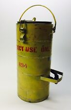Heavy Steel 2-Gallon Emergency Water Cooler w/ Spout - Military Doomsday Prepper