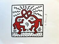 Keith Haring: Love (Untitled). High Quality Color Lithograph