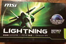 MSI N770 Lightning GeForce GTX 770 2GB 256-Bit GDDR5 PCI Express 3.0 SLI Support