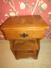 Ethan Allen Heirloom Nutmeg Maple Bedside Commode Night Stand 10 5046