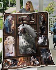 New Horses Selfie Super Soft Plush Fleece Throw Fleece Blanket 50x60