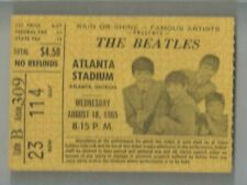 THE BEATLES ATLANTA STADIUM  AUGUST 18 1965 CONCERT TICKET
