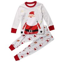 Christmas Toddler Kids Baby Boy Santa Pajamas Sleepwear Nightwear Clothes