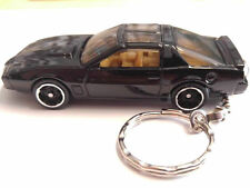 Hot Wheels  1:64 Knight Rider K.I.T.T. Car Keychain  Black CTR Custom Key chains