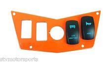 Orange Dash Panel 4 Switch Polaris RZR XP 800S 900 With 2 Laser Backlit Switches