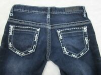 Women's Daytrip Buckle Aquarius Straight Dark Wash Jeans Size 23R  23 x 31
