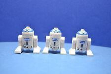 Figura 3 x LEGO Star Wars R2-D2 sistema 4475 4502 6212 descolorida | oscurecidas