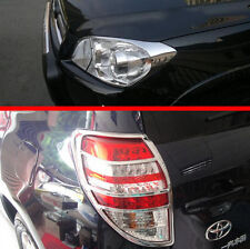 ABS Chrome HeadLight And Tail Light Lamp Cover Trim For TOYOTA RAV4 2009-2012