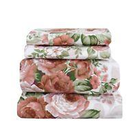 Beautiful Bedding Super Soft Egyptian Comfort Floral Sheet Set Rusty Rose