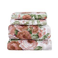 Beautiful Bedding Super Soft Comfort Floral Sheet Set Rusty Rose