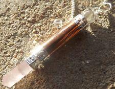 Rame con quarzo rosa e quarzo 6 lati BACCHETTA Healing Dowsing pendolo