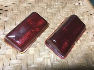 1946 47 1948 Dodge Custom Deluxe Glass Tail Light Lense Left  520 521 Right