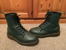 Vintage Original Dr Martens Dark Green 8-Eyelet Lace Up Boots Size UK 5 EU 38